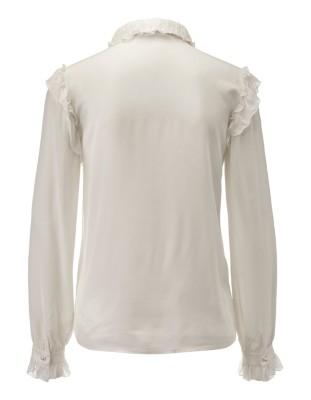 Feminine silk ruffle blouse