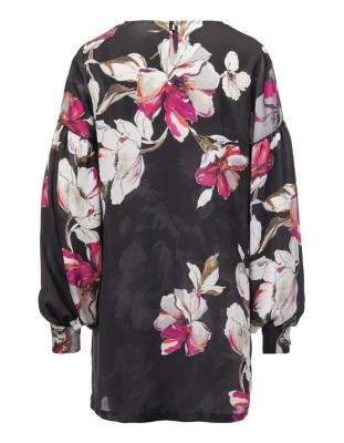 Wide sleeve floral print tunic