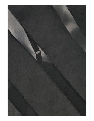 Two-piece, semi-transparent blouson top