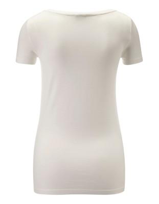Semi-fitted flock-print T-shirt