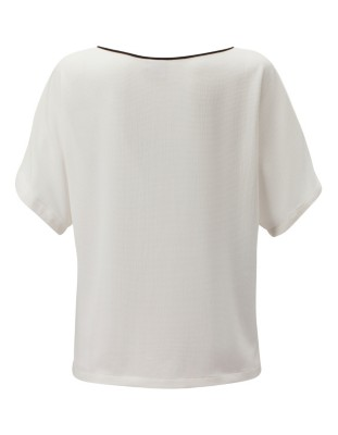 Butterfly sleeve blouse with contrasting edging