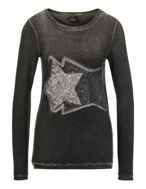 Star print top with sequins
