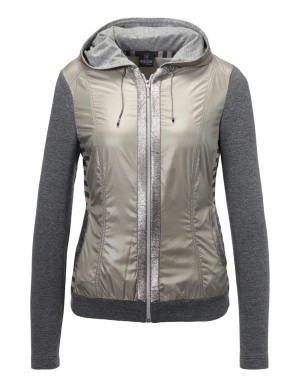 Blouson jacket with sequin trim