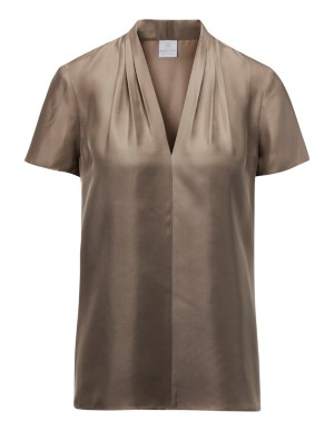 Silk blouson top