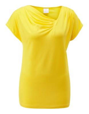 Top with asymmetric neckline