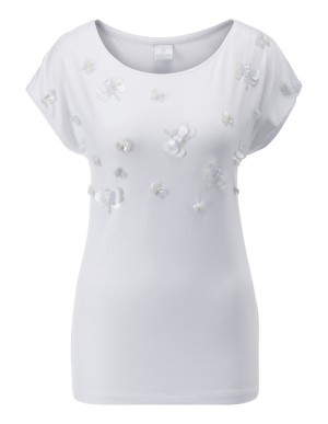 Top with applique front