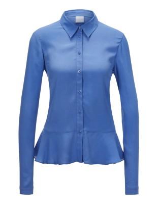 Peplum look long-sleeved shirt