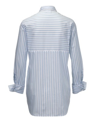 Long, striped cotton shirt