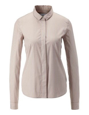 Striped cotton blouse
