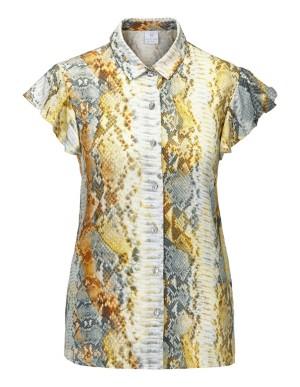 Tailored snakeskin blouse