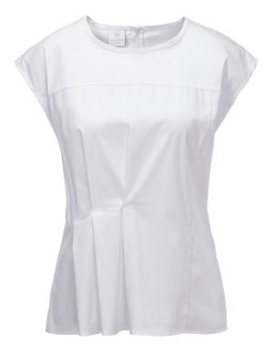 Pleat-front blouse