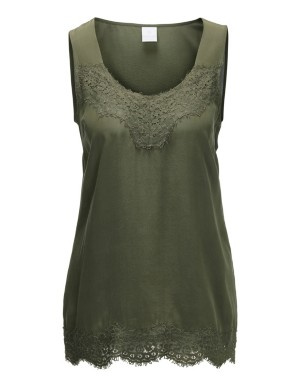 Lace edge camisole top