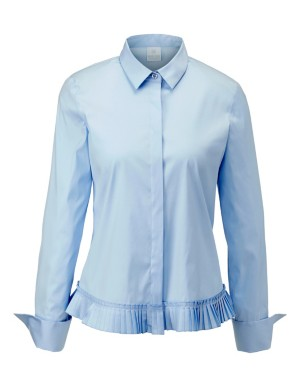 Pleated seam blouse