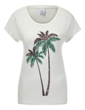 Sequined palm tree top