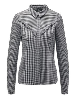 Check blouse with ruffles