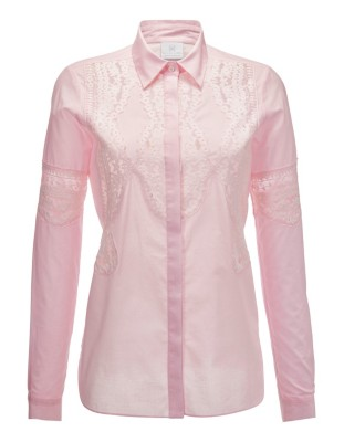Shirt with lace detailing