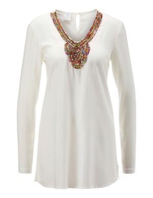 Rhinestone-decorated tunic