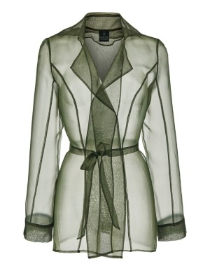 Transparent silk blouse jacket