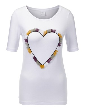 Top with sequined heart motif