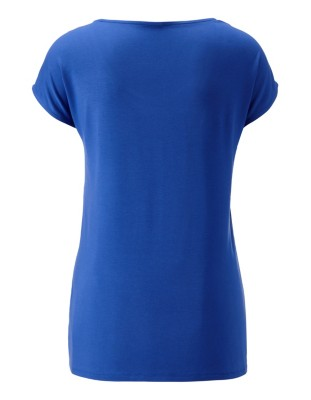 Cap sleeve blouse with flounce detail
