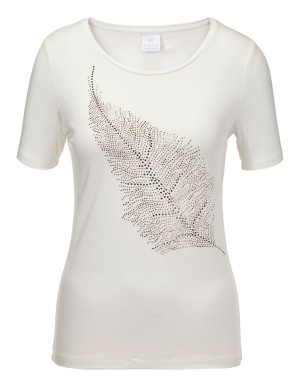 Feather motif top