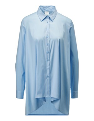 Long, oversized high-low shirt