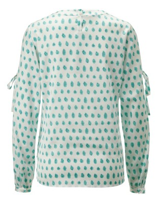 Polka dot print blouse