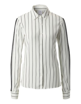 Stripe-patterned blouse