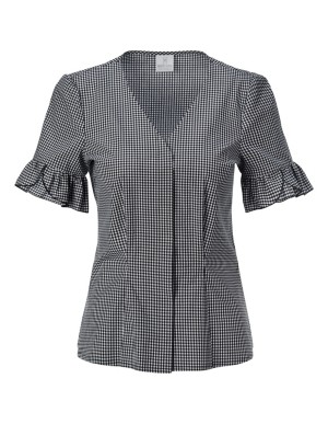 Ruffled puff sleeve blouse