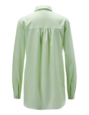 Silk and cotton long-sleeved shirt