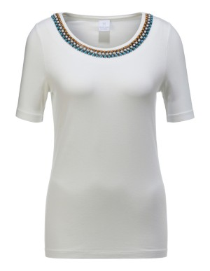 Top with ornamental pearl decoration