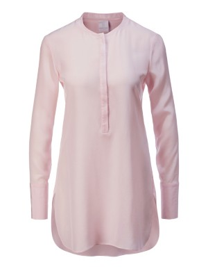 Silk high-low shirt