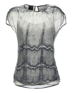 Snake print blouse and top set