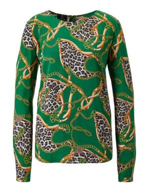 Mixed pattern blouse