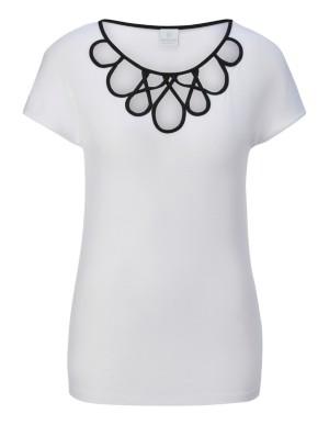 Embellished neckline top