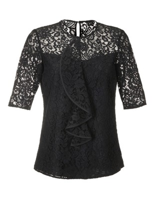 Subtly tailored lace blouse