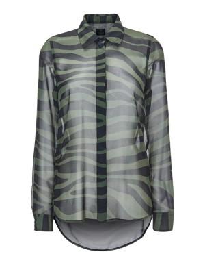 Semi-sheer high-low blouse