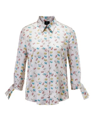 Minimal print blouse