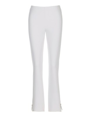 Slim-fit trousers with hem zips