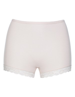 Briefs with lace edging