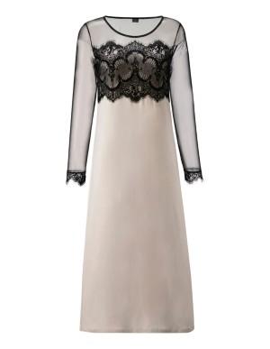 Lace and mesh nightdress