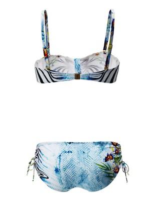 Floral bandeau bikini with detachable straps, FÜRSTENBERG