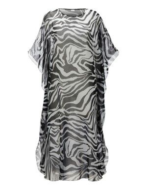 Floaty animal-print caftan