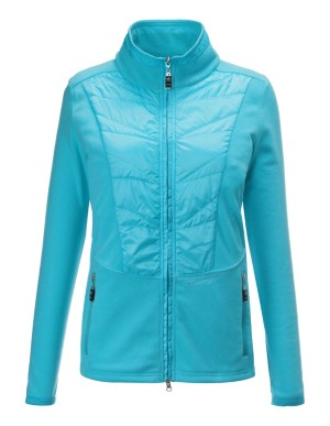 Fleece jacket with quilted inserts, CANYON