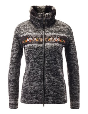 Textured knitted fleece jacket, CANYON