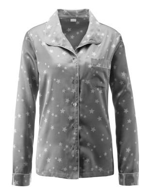 Satin pyjamas with star pattern