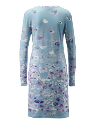 Long-sleeved floral nightshirt