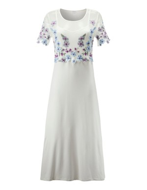 Semi-transparent embroidered nightdress