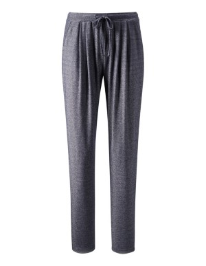 Casual trousers in gleaming fabric
