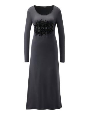 Nightdress with flock print